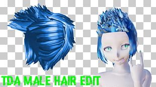 Forehead Hairstyle Hair Coloring Blue Hair PNG