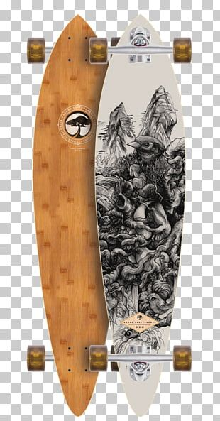 Longboard Tropical Woody Bamboos Bamboo Skateboards Length PNG