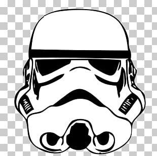 Stormtrooper Drawing Star Wars Stencil PNG