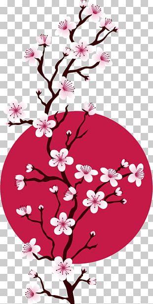 Cherry Blossom Cross-stitch Pattern PNG
