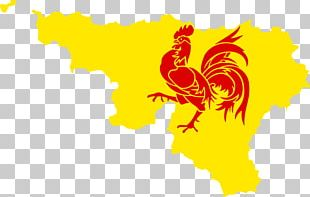French Community Of Belgium Flag Of Wallonia Flag Of Belgium Gallic Rooster PNG