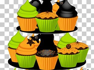 Cupcake American Muffins Halloween Cake PNG