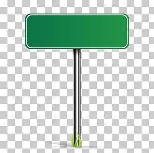 Green Road Sign PNG