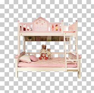 Bunk Bed Pink Canopy Bed Furniture PNG