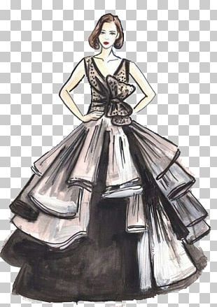 Gown Fashion Illustration Drawing Sketch PNG