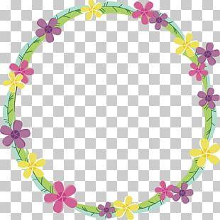 Floral Design Frame PNG