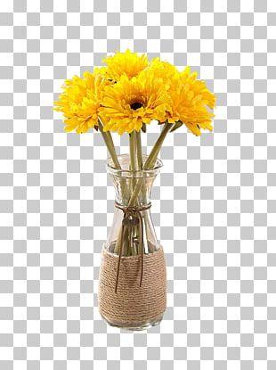 Flower Bouquet Vase Ornament PNG
