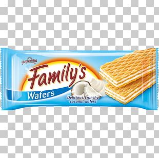 Wafer Waffle Cream Coconut Flavor PNG