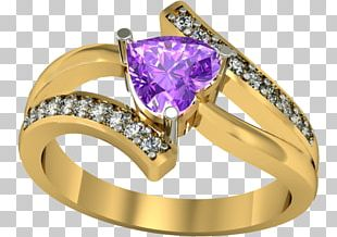 Amethyst Wedding Ring Crystal Jewellery PNG