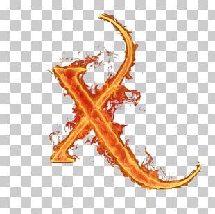 Letter Alphabet Flame Font PNG