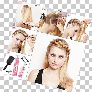 Hair Tie Braid Blond Hair Coloring Beauty PNG