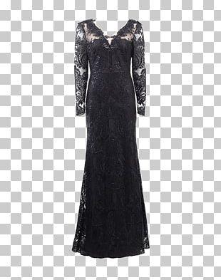 Cocktail Dress Sleeve Little Black Dress Neckline PNG