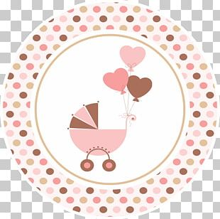 Baby Shower Party Paper Label Printing PNG