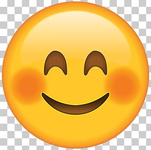 Emoji Blushing Smiley PNG