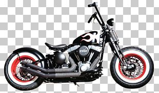 Harley-Davidson Motorcycle Softail Bobber Chopper PNG