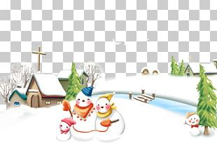 Winter Solstice Poster Snowman PNG