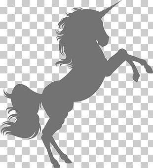 Horse Unicorn Silhouette PNG