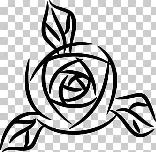Rose Black And White PNG