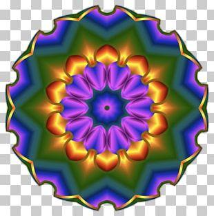 Kaleidoscope Symmetry Violet Purple Flower PNG