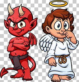 Devil Shoulder Angel Illustration PNG