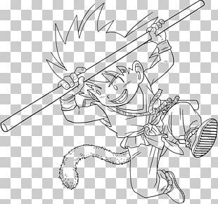 Goku Line Art Vegeta Drawing Black And White PNG