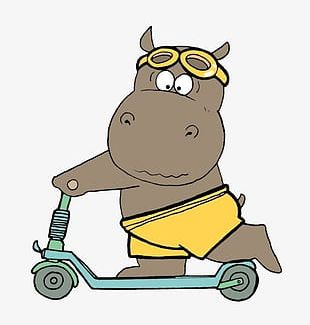 Scooter On The Hippo PNG
