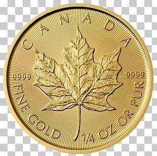 Canadian Gold Maple Leaf Bullion Coin Gold Coin Gold As An Investment Canadian Maple Leaf PNG