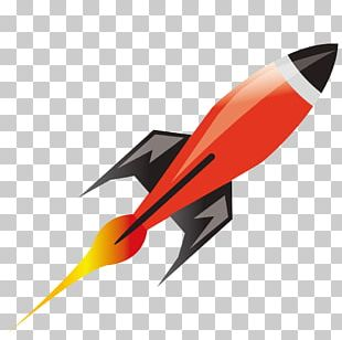 Rocket Spacecraft Outer Space Illustration PNG
