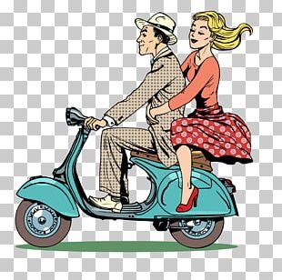 Scooter Piaggio Vespa Motorcycle PNG