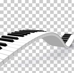 Piano Bend Extended Black And White PNG
