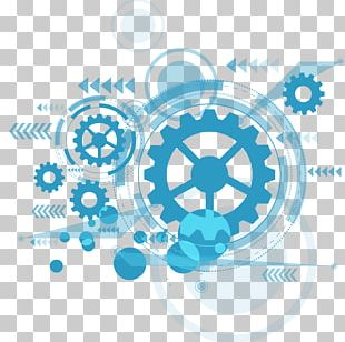 Blue Technology Graphic Design PNG