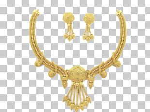 Jewellery Necklace Jewelry Design Gold Earring PNG