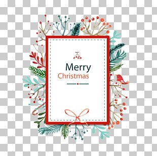 Christmas Card Watercolor Painting PNG