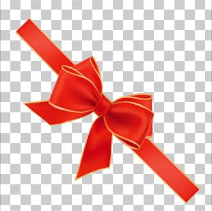Red Ribbon Sticker PNG