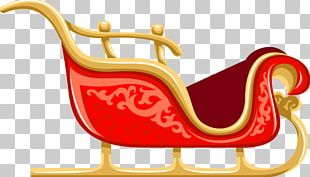 Santa Clauss Reindeer Santa Clauss Reindeer Sled PNG