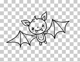 Bat Halloween Drawing Coloring Book Pattern PNG
