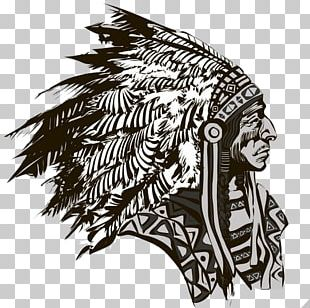 Drawing Native Americans In The United States Tribal Chief PNG