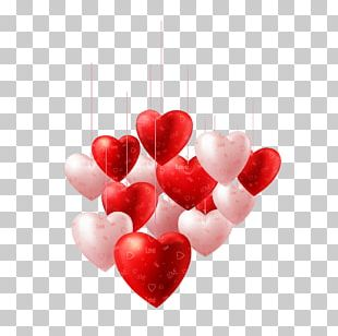 Valentines Day Heart Balloon Illustration PNG