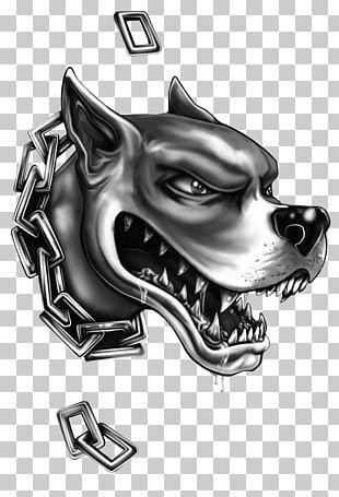 Pit Bull Bulldog Sleeve Tattoo Black-and-gray PNG