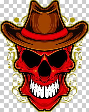 Cowboy Hat Skull T-shirt Stock Photography PNG
