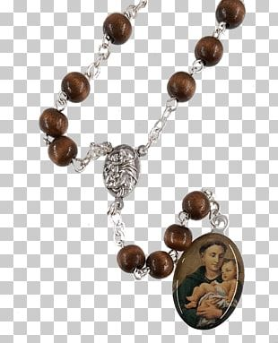 Necklace Rosary Bead Holy Card Bracelet PNG