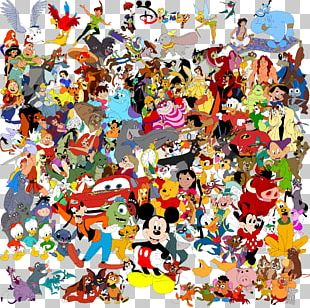 Drawing The Walt Disney Company Character Collage Art PNG