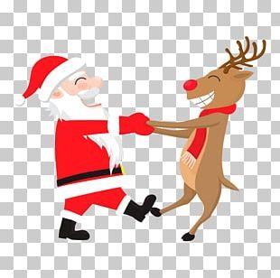 Rudolph Santa Claus Reindeer Hoodie Wedding Invitation PNG
