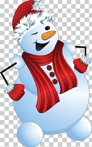 Snowman Cartoon Winter PNG
