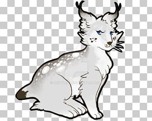 Whiskers Lynx Cat Drawing Line Art PNG