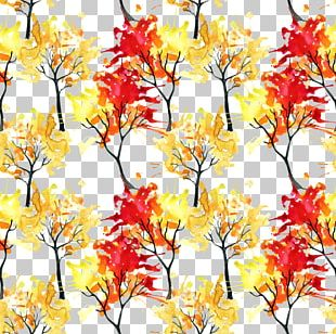 Watercolor Painting Autumn Illustration PNG
