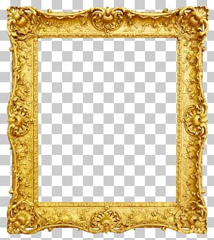 Frame Antique Gold PNG