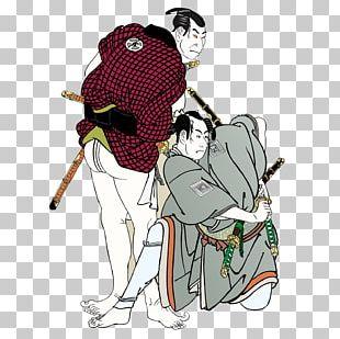 Ukiyo-e U014cta Memorial Museum Of Art Ichikawa Omezu014d As A Pilgrim And Ichikawa Yaozu014d As A Samurai Museum Of Fine Arts PNG