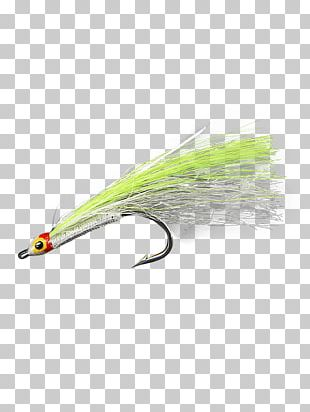 Artificial Fly White Green Minnow Blue PNG