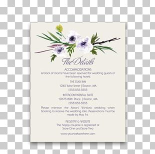 Wedding Invitation Floral Design Watercolor Painting Paper PNG